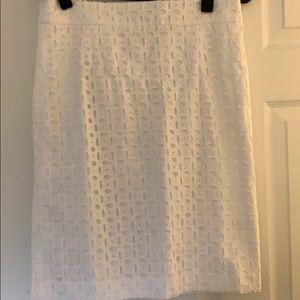 White brocade skirt